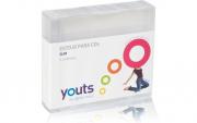 Embalagem para Cd Slim Youts Transparente Pack com 5