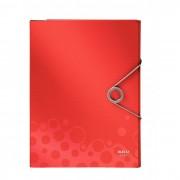 Pasta com elástico Esselte Leitz Bebop Estreita Vermelha capacidade 150 folhas A4 63486
