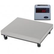 Balança Industrial Plataforma Digital de Aço Inox 304 Ramuza Capacidade de 200Kg base de 50x50cm IDR de ABS Sem Bateria