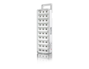 Luminária de Emergência 30 LEDs Elgin acompanha adesivo Saída e parafusos para fixação em parede