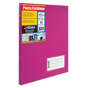 Pasta Catalogo Chies c/Colchete C/10 Sacos - Pink - Ref.: 2535-2
