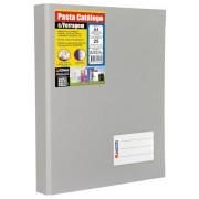 Pasta Catálogo com Ferragem Chies A4 com 25 Refis e 2 Porta Cartões Cinza 1171-3