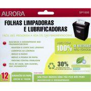 Folha Limpadora e Lubrificante para Fragmentadoras Aurora Sp1000 Pacote com 12 Folhas