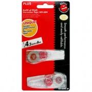 (FORA DE LINHA) Refill p/ fita corretiva Whiper MR Plus Japan -  2 cartuchos de 4,2mm e fita de 6m cada