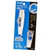 (FORA DE LINHA) Fita Corretiva Whiper MR Plus Japan WH-605-11 5mm e fita de 6m, Azul, incluso 1 Refil