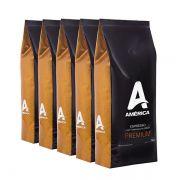 Café América Premium em Grãos 5kg Blend com Torra Média