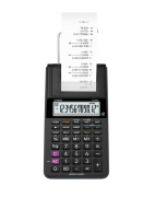 Calculadora com Bobina Casio Hr-8Rc-Bk Preta 12 Díg Adaptador Bivolt Incluso