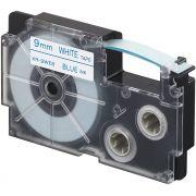 Fita Rotuladora Casio Xr-9Web1 9 mm Azul no Branco para Etiquetadora Kl