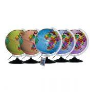 Globo Terrestre Libreria 30cm Prisma Pi-Lc/Bs-Pp 310450 Polit.Multicolor Bivolt Base Preta