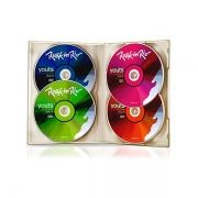 Kit com 4 Unid DVD-R 8x 4,7gb 120Min Youts Multidisc Color Label Rock In Rio