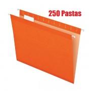 Pasta Suspensa Pendaflex Reforçada Laranja H.Metal 250 Unid 4153-Ora