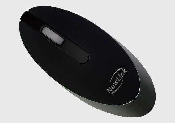 Mini Mouse sem Fio Style Preto Newlink Mo101 Usb