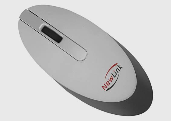 Mini Mouse sem Fio Style Prata Newlink Mo102 Usb