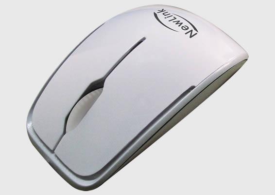 Mouse Shiny Branco Newlink Mo204