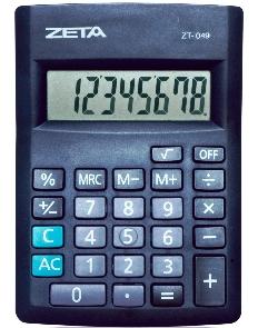 Calculadora de Mesa Zeta Zt-049 12 Díg Bateria Compacto Auto Power Off Blister
