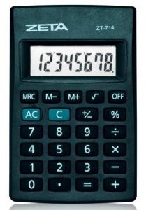 Calculadora de Bolso ZETA ZT-714 - 8 díg., bateria, embalagem blister
