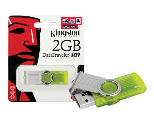 Pen Drive Kingston 2gb Dt101G2 Verde Limao Usb 2.0 Box