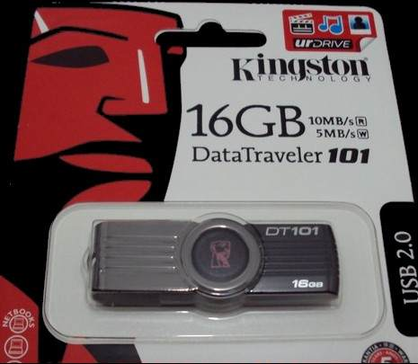 Pen Drive Kingston 16gb Dt101G2 Preto Usb 2.0 Box