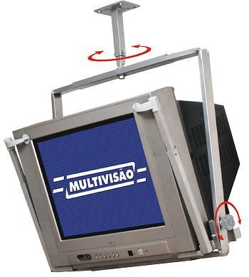 Suporte de Teto para Tv Crt de 14 a 21 Multivisão T12 Prata