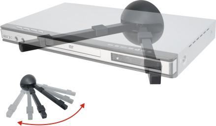 Suporte de Parede para DVD Receiver ou Acessório Multivisão SDVD20 Preto