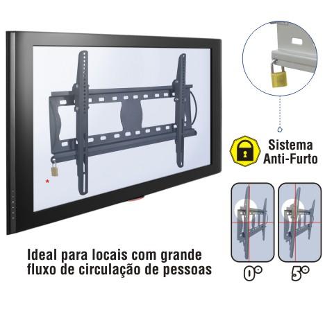 Suporte com Inclinação e Trava Anti-Furto para Tv de 37 a 63 Multivisão Stpf62 Preto