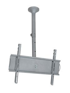 Suporte de TETO com Inclinação para TVs LCD/PLASMA/LED de 32´´ a 52´´. Altura Regulável 750 a 1.400mm Multivisão SKYPRÓ-M Prata