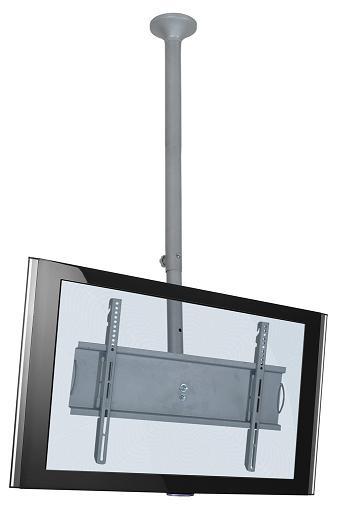 Suporte de Teto Multivisão Skypró-G Prata Inclinação Tvs de 32 a 52 Altura Regulável