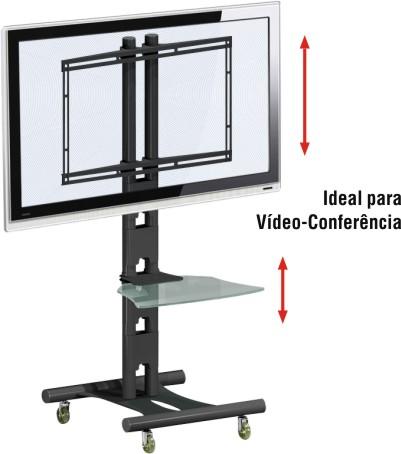 Rack para Tv Lcd Plasma ou Led de 32 a 52 e Acessórios Multivisão Rack Aço 20