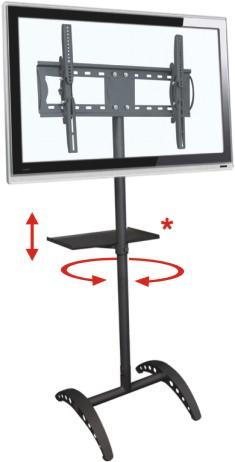 Pedestal de Chão para Tv de 32 a 52 Multivisão Unipró Arco e Suporte DVD V250 Preto