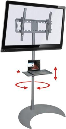 Pedestal de Chão para TVs LCD/PLASMA/LED de 32´´ a 52´´ Multivisão UNIPRÓ 200 + Suporte p/ DVD V250