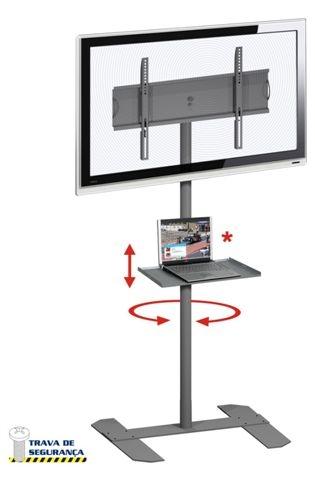 Pedestal de Chão para Tvs de 32 a 52 Multivisão Unipró 100 e Suporte DVD V250