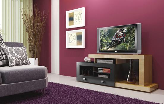 Rack para TV até 52´´ e Acessórios Multivisão  EVOLUTION Mapla c/ Tabaco