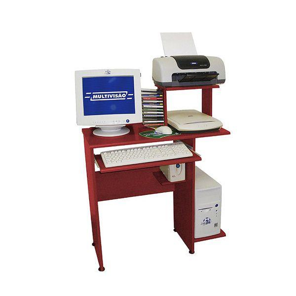 Mesa para Computador Acessórios e Impressora Multivisão Link Mogno