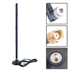 Antena Wireless Omni 18 Dbi com Booster Rp-Sma e Base
