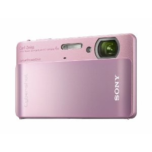 Câmera Digital DSC-TX5 10.2MP  a Prova D´Água Sony Rosa