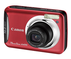 CÂM DIG 10 MP, LCD 2.5´´, ZO 3.3X, SMART AUTO,FACE DETECTION A495 CANON