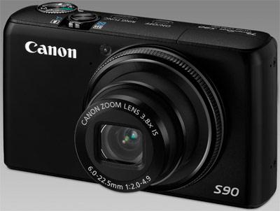 Câmera Digital Canon S90 10Mp Lcd 3 Hdmi Lente 28mm F/2 e Redutor de Ruído