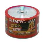 Midia DVD-R Emtec 8x 4,7gb 50 Unid