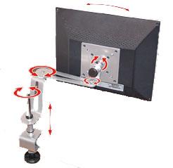 Suporte de Mesa Multivisão Lcd-Flex-Slim-Pc para Monitor 10 a 17 Preto