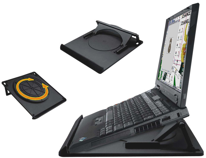 Suporte com 7 Regulagens de Altura Giro e Coolers para Notebook Multivisão Nt-Cooler