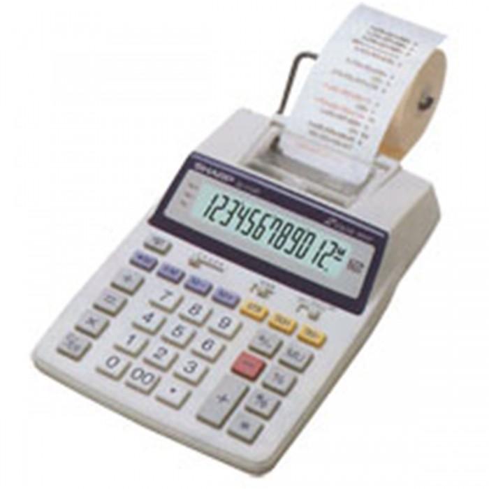Calculadora de Mesa Sharp El1750V 110v 12 Díg Visor Impressora Calendário Relógio