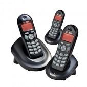 Telefone sem fio Elgin TSF-4003 C/ 2 Ramais, Identificador de Chamadas, viva voz, despertador, babá eletrônica, até 4 ramais, 9 campainhas, 5 volumes, bloqueio de teclado
