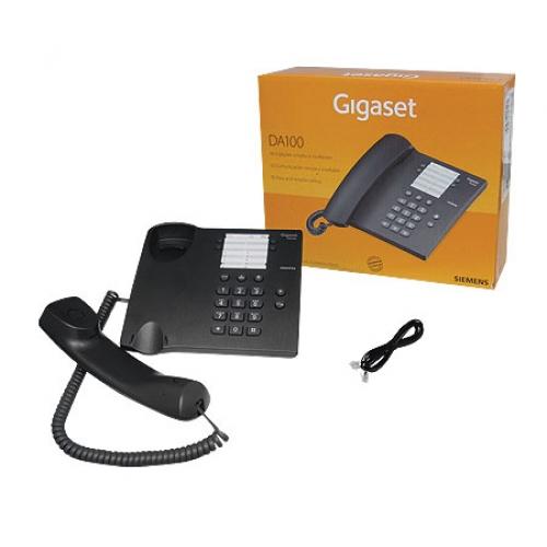 Telefone com Fio Gigaset Siemens Da100 Preto