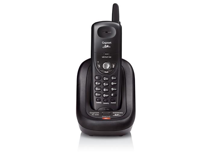 Telefone sem Fio Gigaset Ac600 Preto 2.4ghz Digital com 10 Memórias