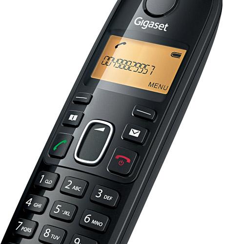Telefone Siemens Gigaset Ramal sem Fio A39H Preto