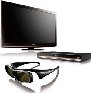 Tv Plasma 3D Tc-P50Vt20B Plasma 3D e Kit (Dmp-Bdt300Pu e 2 Oculos e 2 Discos)