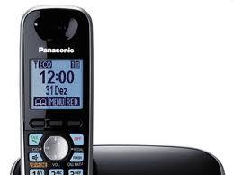 Telefone Panasonic  KX-TG6512LBB Bundle, Dect 6.0 visor e teclado iluminado azul,identificador de chamadas, viva voz no monofone, entrada fone de ouvido, até 6 ramais