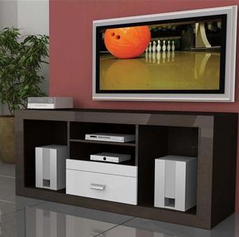 Rack Multivisão Styllus para Tv até 52 e Acessórios Imbuia com Branco