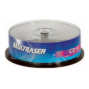 Midia CD-R Vel. 52x 700mb com 25 Unid. Pino Multilaser