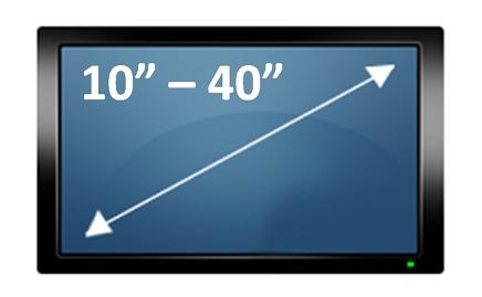 Suporte de teto Brasforma SBRP150 para TV Plasma/LCD de 10´ à 40´ Preto - giro 360º (braço reg. 80 cm)